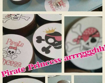 24 sassy pink piraye princess party image chocolate covered oreos or chocolate lollipops