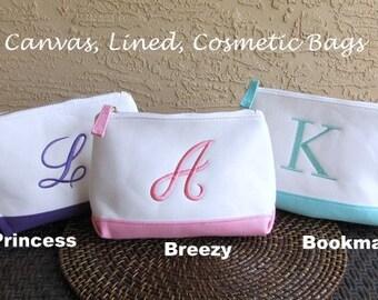 Monogram  Cosmetic Bag  Monogrammed Makeup Bag Personalized Cosmetic Makeup Bag Teacher Gift, Bridesmaid Gift Spring  Sale Event  Makeup Bag