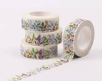 Roll of 10 m of masking tape spring - Washi tape with flowers