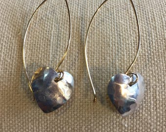 Heart Earring With 14kt Gold Filled Ear Wires