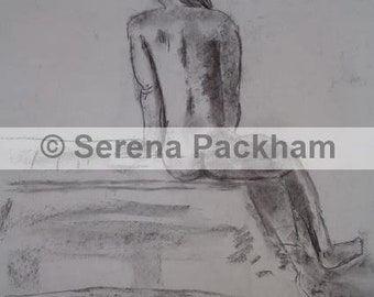 Digital Print of a Life Drawing in Charcoal