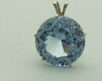 Blue Spinel Gemstone Pendant Sterling Silver pendant Blue spinel necklace Blue spinel jewelry Spinel statement piece