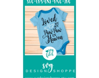Hand Picked for Earth By Paw Paw in Heaven SVG Files Silhouette Studio, Cricut Expression, Cricut Design Space, Printable Clipart, Cut Files