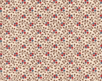 Moda Rachel Remembered 31544 12 Multi Small Floral & Vines On Beige By The Yard