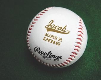Personalized Baseball - Engraved Baseball- Groomsmen Gift, Gift for Boy, Personalized Gift for Baseball Fan