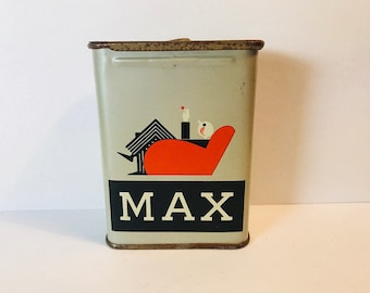 Vintage South African Cigarette Tin Max