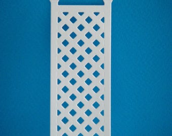 Cut flowers climbing white lattice