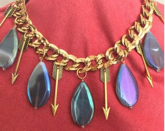 Agate and Arrow Vintage Statement Necklace