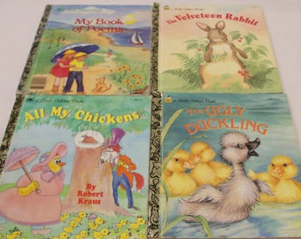 4 Little Golden Books 1985,1992,1993 1995