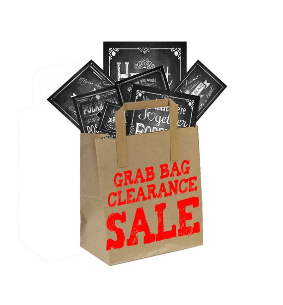 Grab bag CLEARANCE sale on chalkboard style wedding prints - Get EIGHT prints for just 20 dollars
