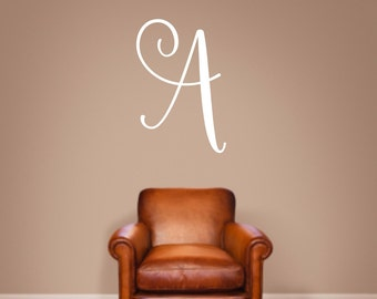 Monogram Vinyl Wall Decal - Family Wall Quote - Family Decal - Family Monogram - Initial Vinyl Wall Decal - Single Letter Decal
