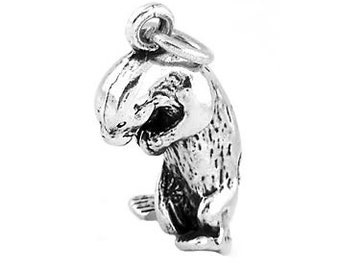Otter pendant etsy sterling silver sea otter charm 3d charm aloadofball Image collections