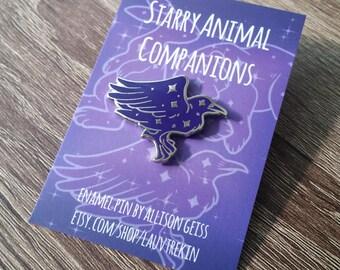 Starry Raven Companion Hard Enamel Pin