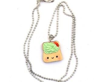 Avocado Toast Necklace, Vegan Necklace, Vegan Chocker, Vegan Gift, Vegan Jewelry, Vegan Jewellery.
