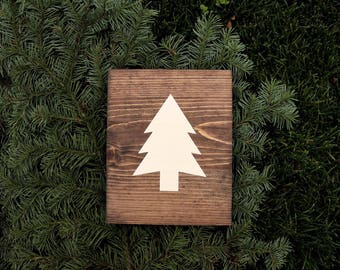 Pine Tree Explore Outdoors Wooden Sign