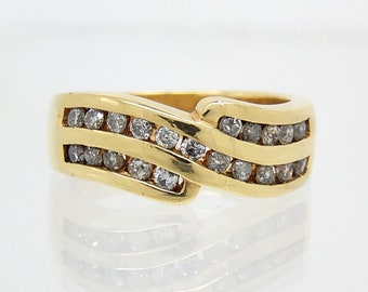 14K Estate Channel Set Diamond Ring - 8974