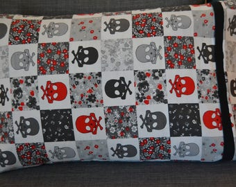 Skulls and Flowers Pillowcase