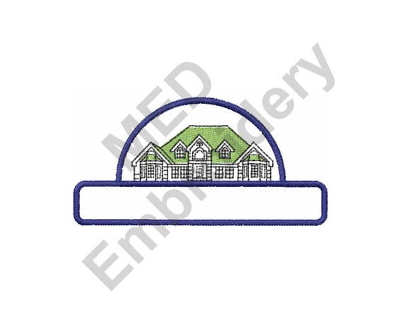 House Text Box - Machine Embroidery Design from MachineEmbDesigns on on chart house, icon house, label house,