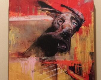 "Kelly Canvas Art - Dog Art - Great Dane Canvas Print - ""Kelly"" by Black Ink Art"