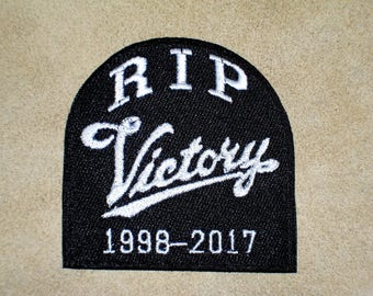 RIP VICTORY 1998-2017 Biker Vest Embroidered Patch, motorcycle,closing New for jacket, hat, vest