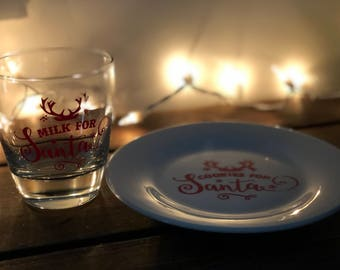 Santa's plate and cup