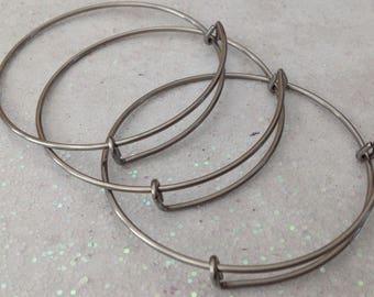 Bangle Bracelets, Bangle Bracelets Bulk, Stainless Expandable Bangles | 60mm | Bangle Bracelets | Wholesale Pricing | DIY | Jewelry Making