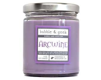 Arcwine Scented Soy Candle - 8 oz. jar - fruity wine