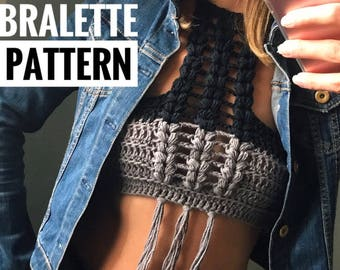 Crochet bralette PATTERN , crochet top pattern Bralette Top Pattern Crochet Crop Top Crochet Lace Top Crochet Bikini Top Crochet Bra