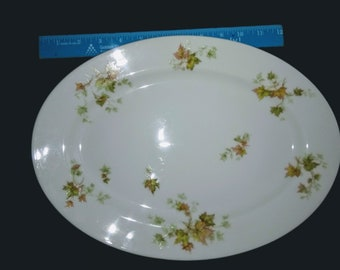 "Haviland Autumn Leaf China 14"" Serving Platter"