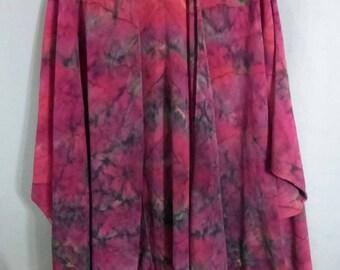 "Silk Ruana Cape ""Red Blend"", Hand Painted Silk Cape, Silk Jacket, Red Silk Ruana"