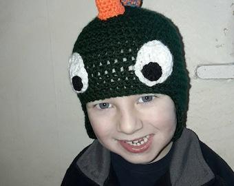 Crochet child's Dinosaur hat