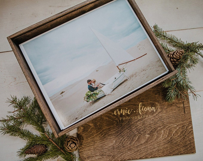 Custom - 11.5 x 15.5 x 3 Wood Print Box (NO area for USB)