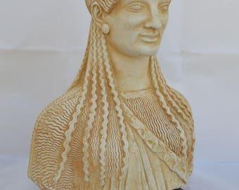 For Sale Archaic Kore Of Acropolis Bust - Korai - Goddess Athena - Pathenon Decoration - Museum Replica