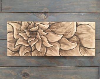 Made to order sign board flower design number 1