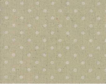Linen Mochi Dot in Sand - Cotton Linen fabric