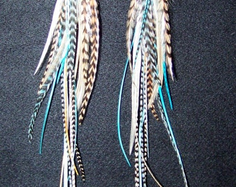 Festival Jewelry, Festival Accessories, Blue Feather Earrings, Blue Feathers, Feather Jewelry,  Bohemian, Hippie Jewelry, Festival Clothing