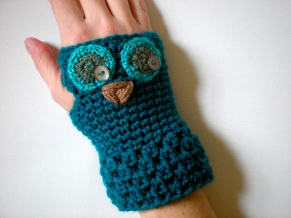 Pattern Owl Gloves Toddler Kid Adult Sizes Easy Crochet