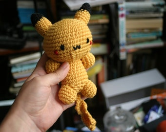 Pikachu amigurumi plush