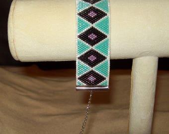 "Diamond pattern bracelet-7.25"" with 1.5"" extension chain"