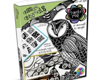 Tangle Me - Aussie Animals - Zentangle-inspired Printable Activity E- Book - Zentangle Art