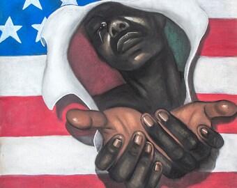 Slavery Still Exit 2 is Original Pastel On Acid free Paper (27x30)