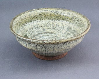 Pottery Medium Bowl Yellow Salt & Celadon YSC09