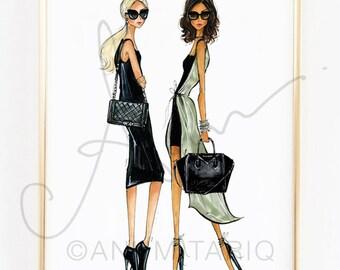 Fashion Illustration Print, It Bags