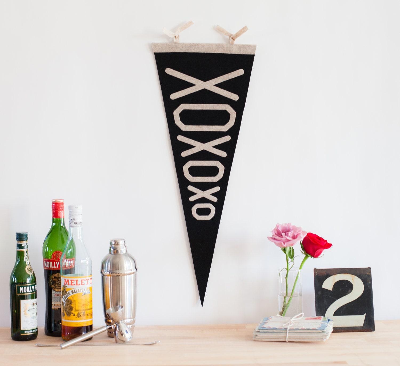 XOXOXO Felt Pennant