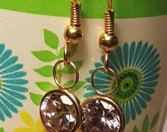 Vintage Dangle Crystal Earrings
