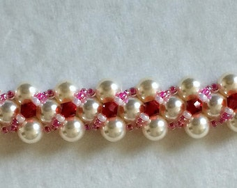 Netted beaded bracelet
