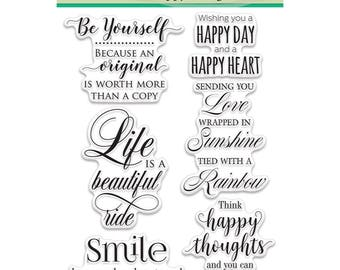 Penny Black Clear Stamp Set - Happy Thoughts