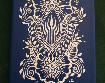 Hand Painted Mehndi Style Journal