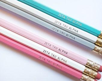 ZETA TAU ALPHA 3 or 6 Pack Pencil Set