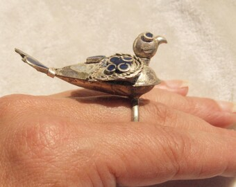 Vintage Bukhara Bird Ring